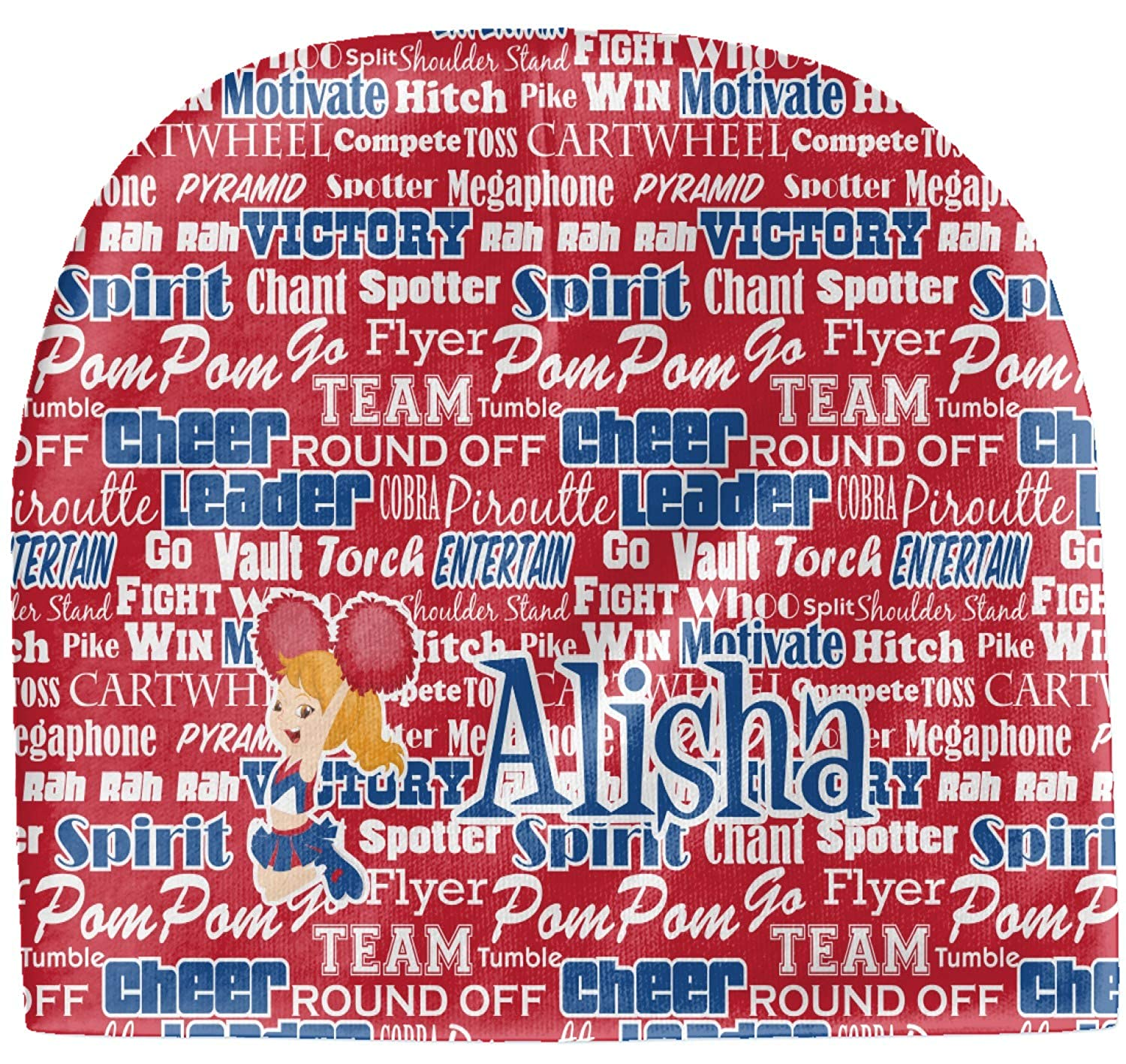 Personalized red YouCustomizeIt Cheerleader Baby Hat Beanie