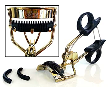 Long & Luscious- Eyelash Curler with 2 Free Silicone Pads and Built-In Comb Attachment