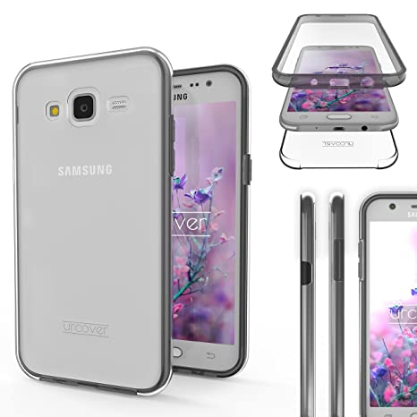 Urcover® Galaxy J5 2015 Funda [Nueva Versión] Mejorada Funda Carcasa Samsung Galaxy J5 2015 [Completa 360 Grados] TPU Crystal Clear Case suporto Qi ...