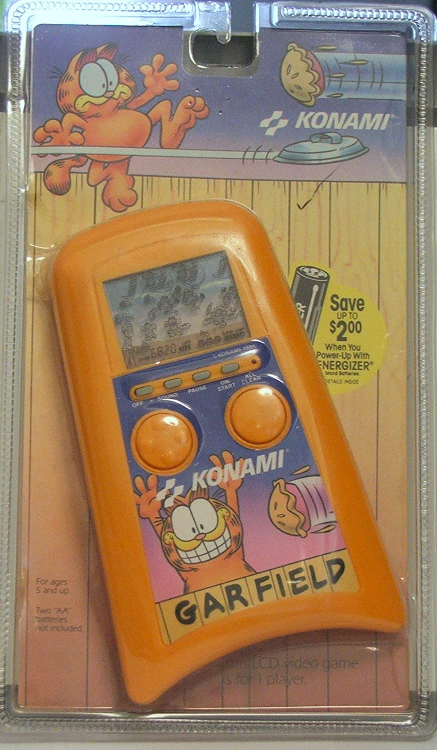 Amazon com: Garfield Konami LCD Hand Held Video Game: Toys