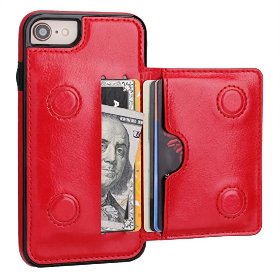 iphone 8 red case wallet