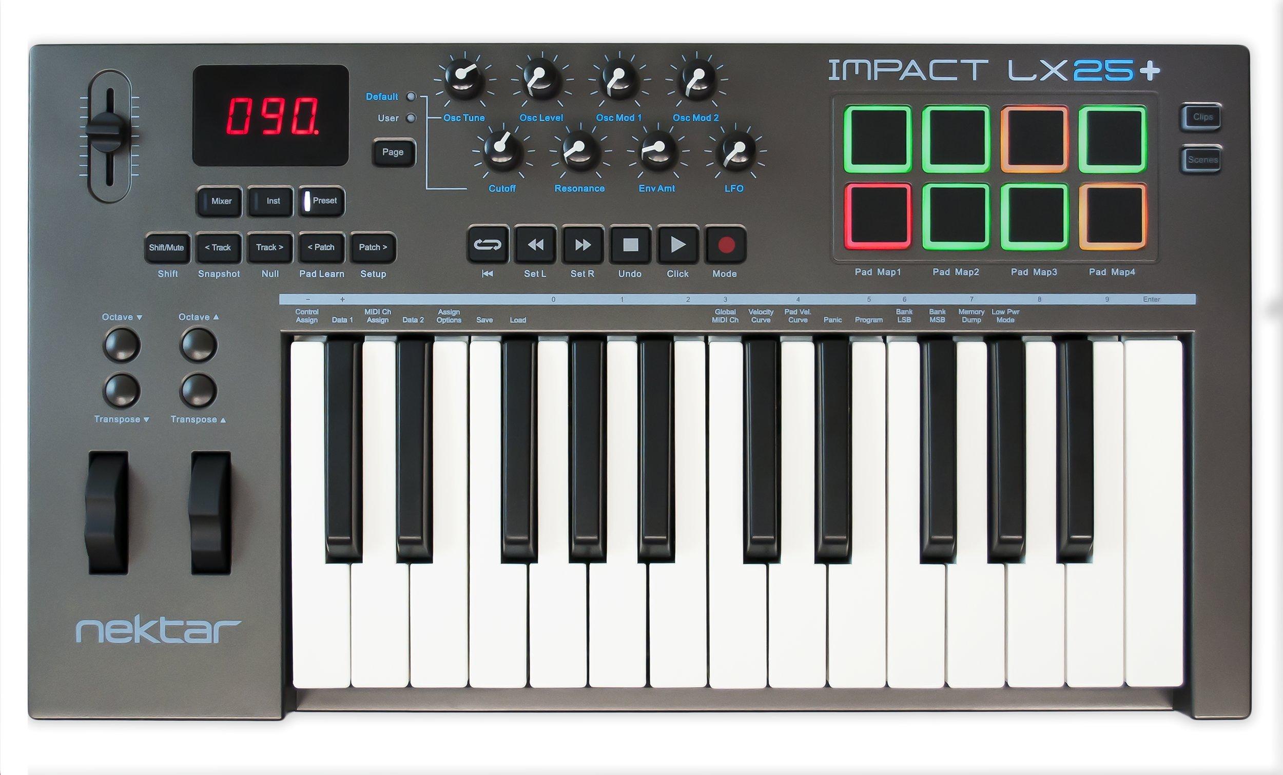 Nektar IMPACT LX25+ MIDI Controller by Nektar
