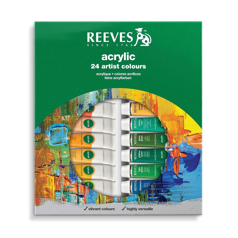 Reeves 12-Pack Water Color Tube Set, 10ml 8494250