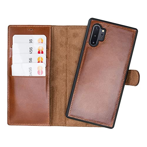 AIFENGCASE Compatible with Galaxy Note 10 Leahter Phone Case,Galaxy Note 10 Wristlet Genuine Leather Wallet Case Card Holder Slot Flip Case Cover,Red