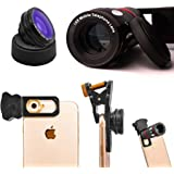 Cell Phone Lens Kit 4 in 1 by Snappy Pics  iPhone, Android, Samsung, Smartphones, HTC, ipad, Tablets, Laptops Glass 10x Zoom Telescope + Fish-eye +Wide-angle + Macro Lens