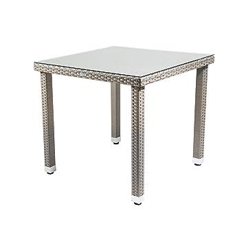Table Malana, table de jardin avec plateau en verre, meubles ...
