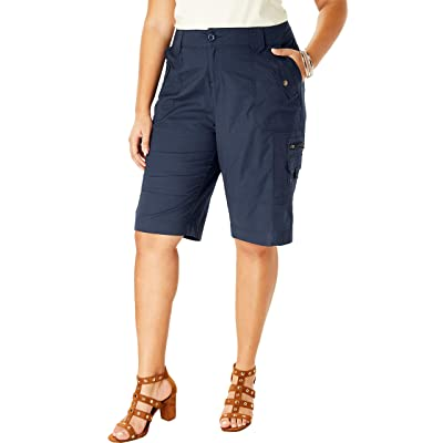 Roamans Women's Plus Size Cargo Shorts at Women's Clothing store