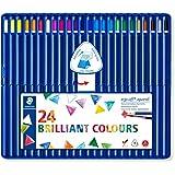 Staedtler Ergosoft Aquarell 156 SB24 Triangular Watercolour Pencil In Staedtler Box - Assorted Colours, Box Of 24