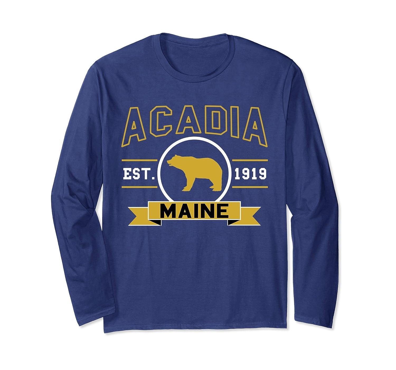 Acadia National Park Long Sleeve Shirt Hiking USA Hike Camp-TH