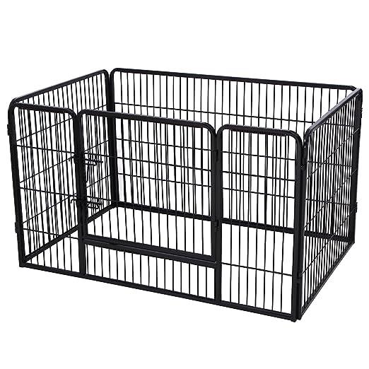 29 opinioni per Songmics Recinzione Recinto per Cani Conigli Animali di Ferro nero 122 x 80 x 70