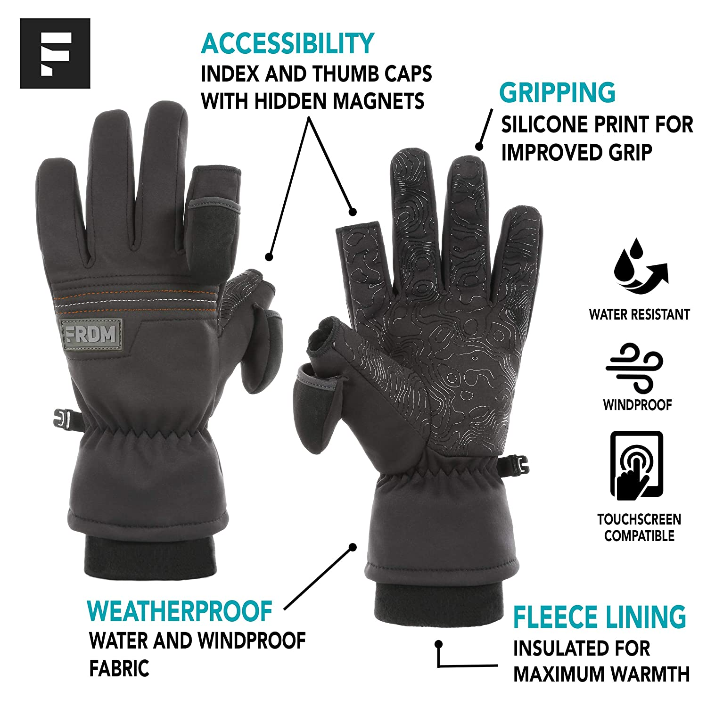 Men /& Women Fishing Thumb /& Index Finger Caps Windproof Photography Outdoor Activities Skiing Water Resistant Touchscreen FRDM Outdoor Gloves