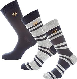 Farah Lot de 3 paires de chaussettes Falton Bleu Homme