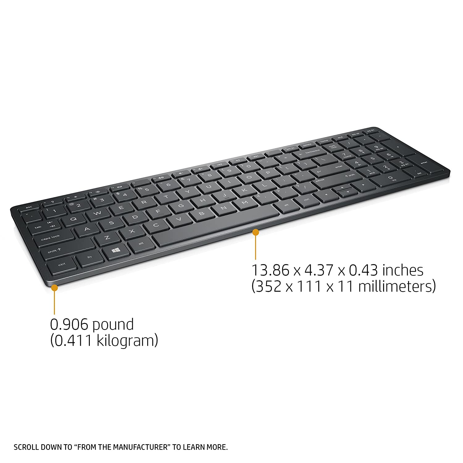 HP HP Spectre Rechargeable Keyboard 1000 (Black)