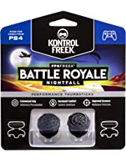 KontrolFreek FPS Freek Battle Royale Nightfall per Controller PlayStation 4 (PS4) | Performance Thumbsticks Copri Joystick di Gioco | 2 levette convesse alte (arrotondate) | Nero