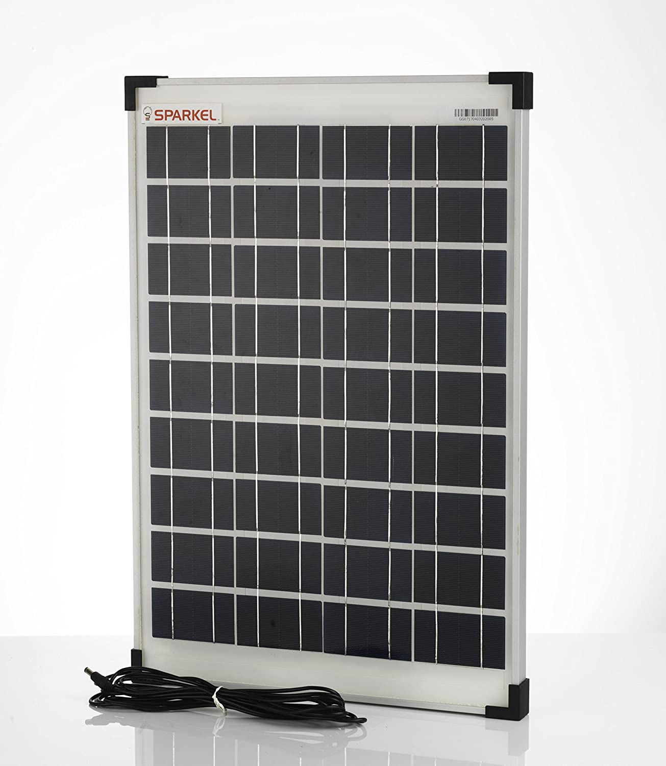 Sparkel 20w Solar Panel With Five Meter Long Moulded Wire For Dc 10w Wiring Diagram Connection Garden Outdoors