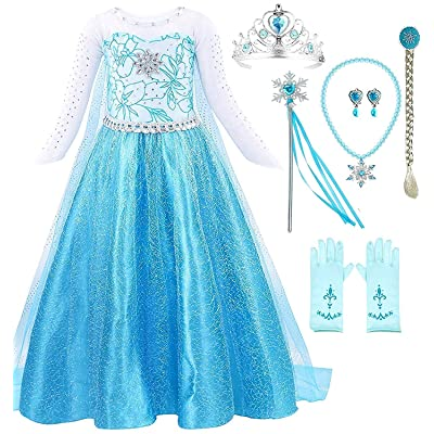 Romy's Collection Blue Snowflake Party Dress: Clothing