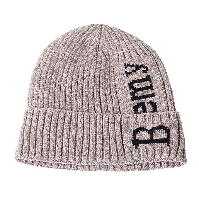 81bcb65784c Amazon.com  MingDe Sports Beanie Embroidery Men Women Knit Cap Knitted Hat  Skullies Warm Winter Unisex Ski Hip Hop Hat  Clothing