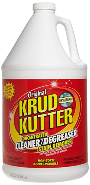 Krud Kutter KK012 Original Concentrated Cleaner Degreaser/Stain Remover with No Odor, 1 Gallon