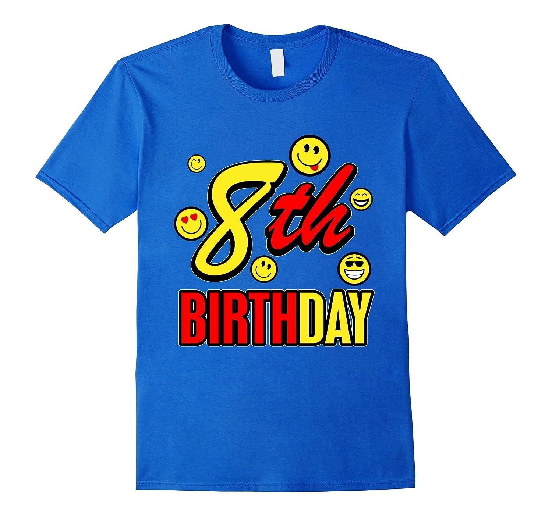 8 Year Old Birthday With Emojis T Shirt