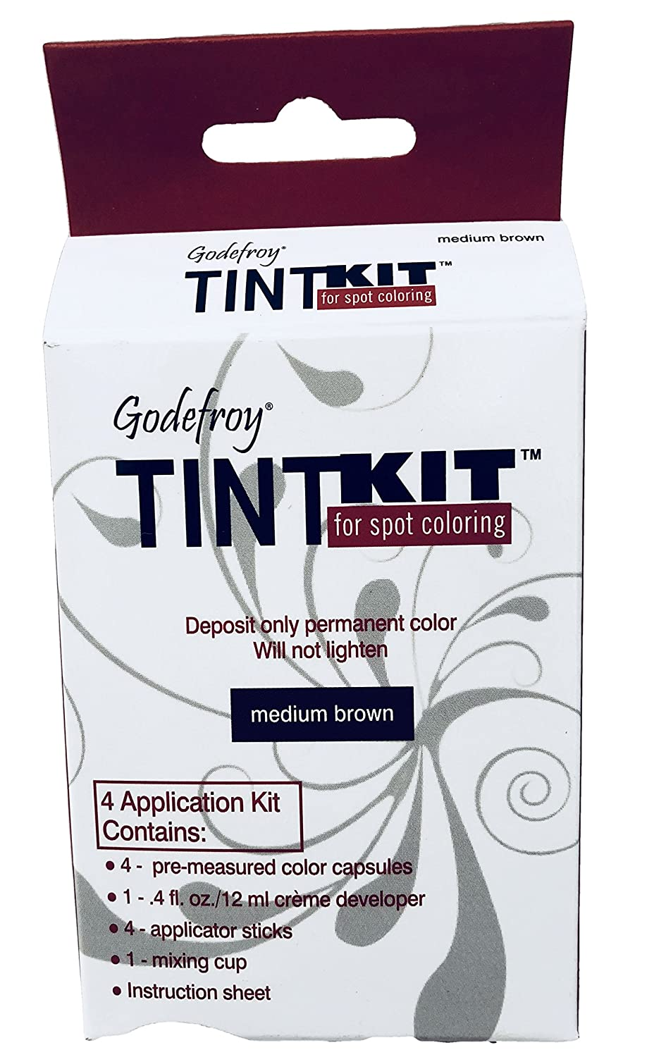Godefroy instant tint permanent eyebrow color kit, Medium Brown, 15 ml