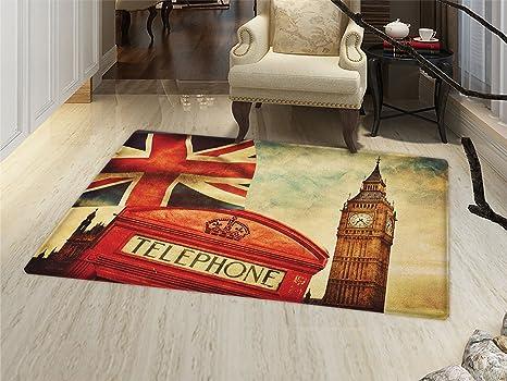 Amazoncom Smallbeefly London Bath Mats Carpet Vintage