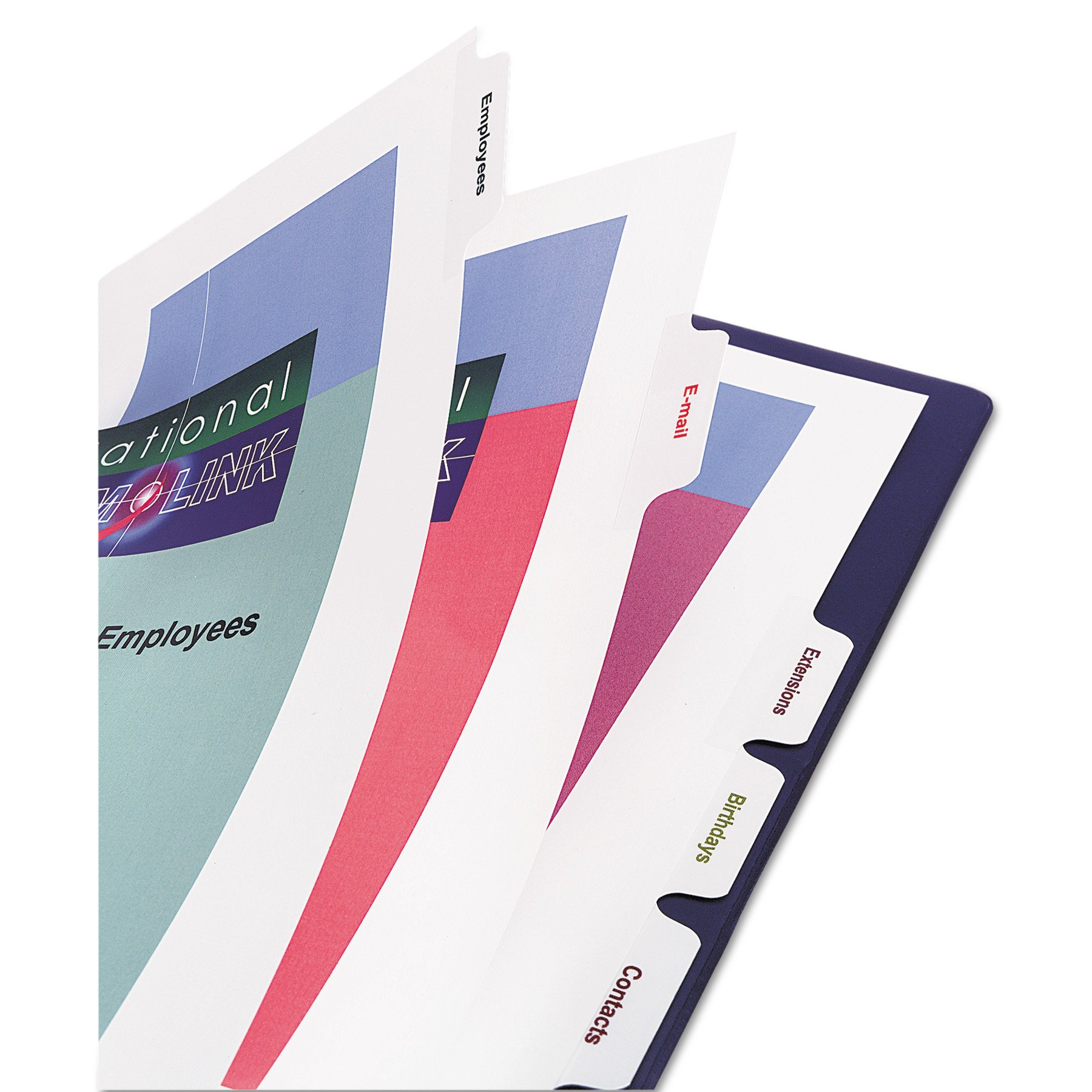 Avery Print-On Dividers, White, 8 Tabs, 5 Sets (11552) by Avery (Image #3)