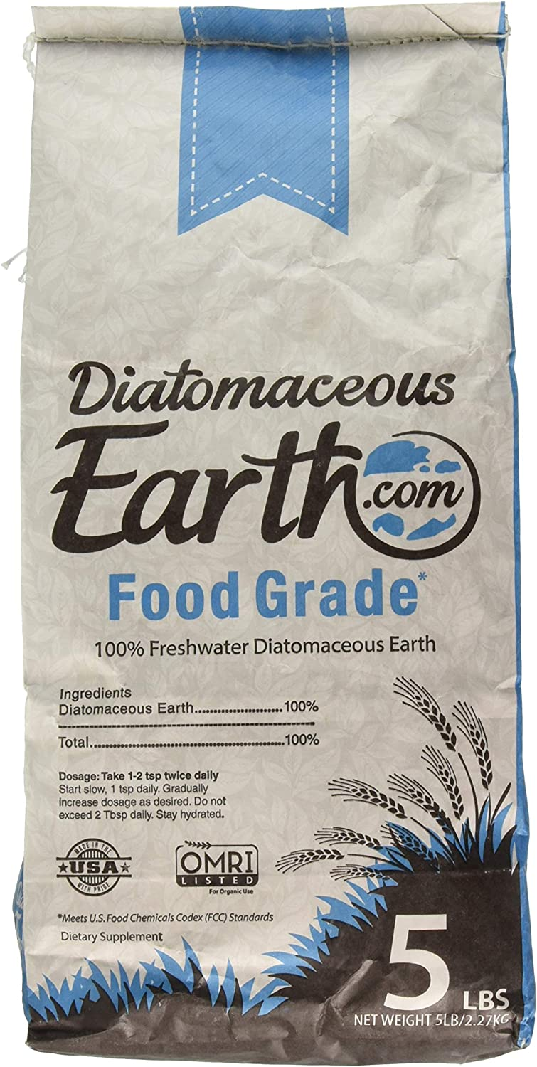 Diatomaceous Earth 5 Lbs Food Grade DE - Includes Free Scoop
