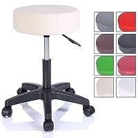 tresko Sgabello di lavoro Sgabello a rotelle seduta girevole da 360gradi, imbottitura di 10cm, di 8colori diversi