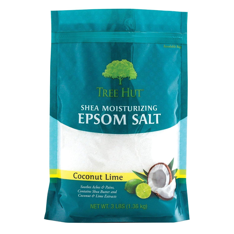 Tree Hut Shea Moisturizing Epsom Salt Coconut Lime, 3Ibs, Ultra Hydrating Epsom for Nourishing Essential Body Care : Beauty