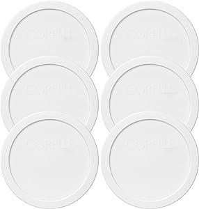 "Corelle 428-PC 28oz 6.5"" Round White Plastic Lid - 6 Pack"