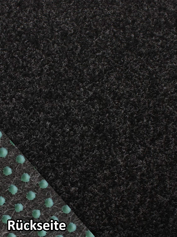 400x550 cm Rasenteppich Kunstrasen Premium schwarz grau Weich Meterware