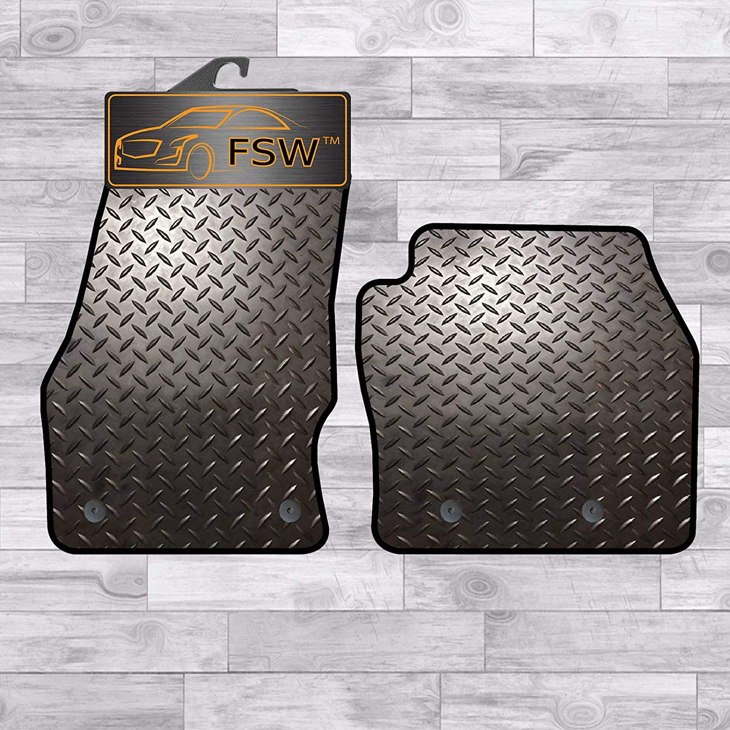 FSW Transit Connect 16-On Fully Tailored 3Mm Rubber Heavy Duty Car Floor Mats