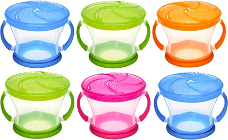 Munchkin Snack Catcher Snack Container, 6 Pack, Colors May Vary by Munchkin: Amazon.es: Bebé