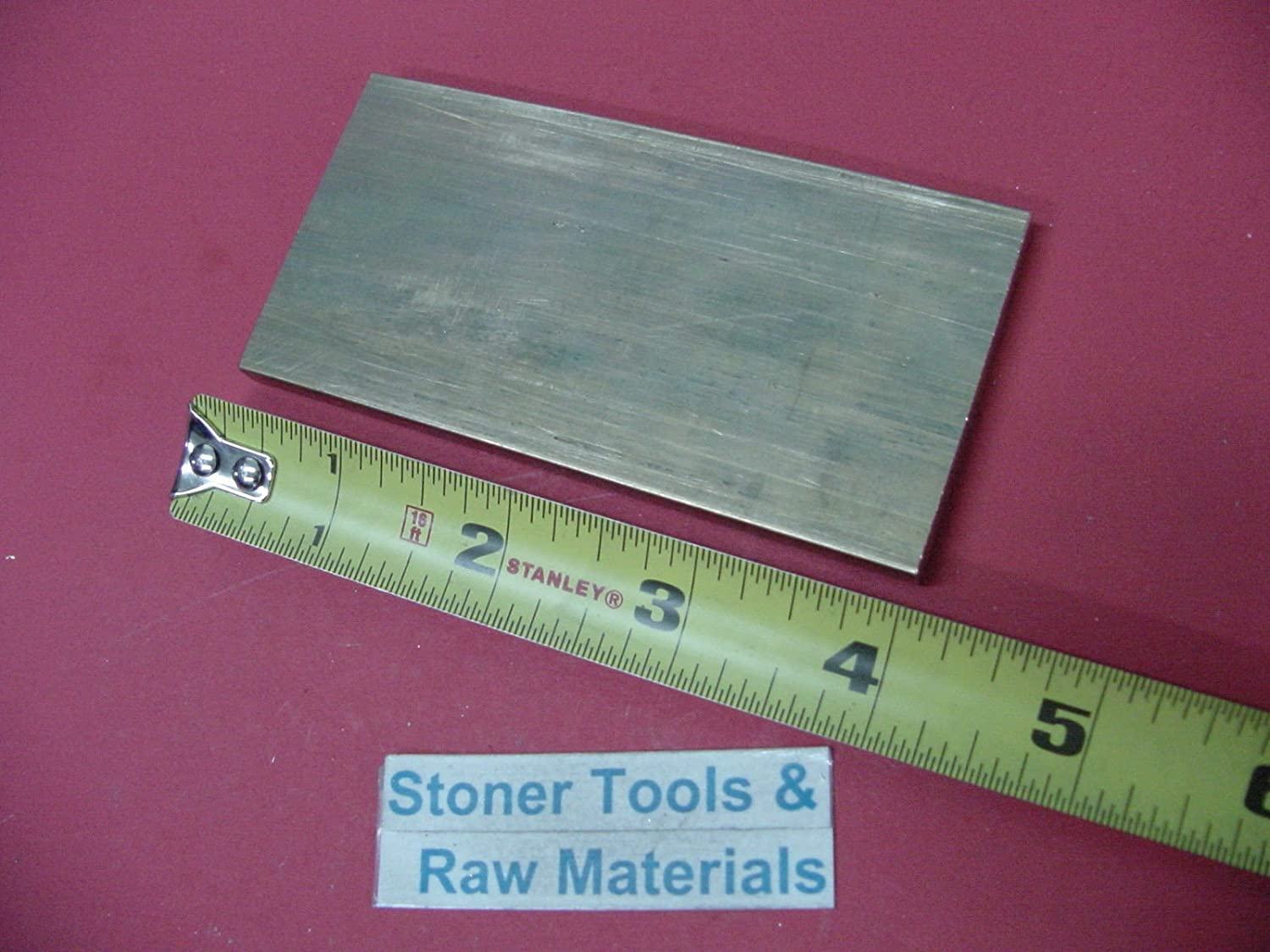 """2 Pieces 1//8/"""" x 2/"""" C360 BRASS FLAT BAR 12/"""" long Solid .125/"""" Plate Mill Stock H02"""