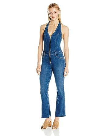 1b1a1a48385 Amazon.com  Joe s Jeans Women s Micro Flare Halter Jumper Jean in Doris   Clothing