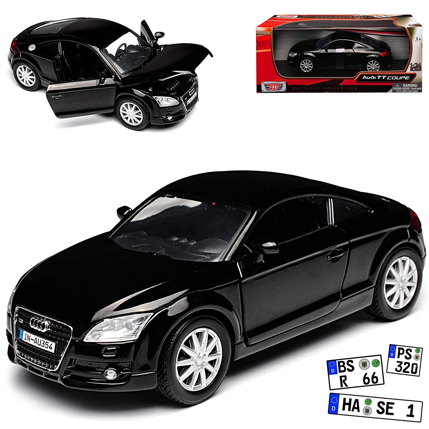 Audi TT 8J Weiss Coupe 2 Generation Ab 2006 1//24 Welly Modell Auto mit oder o..