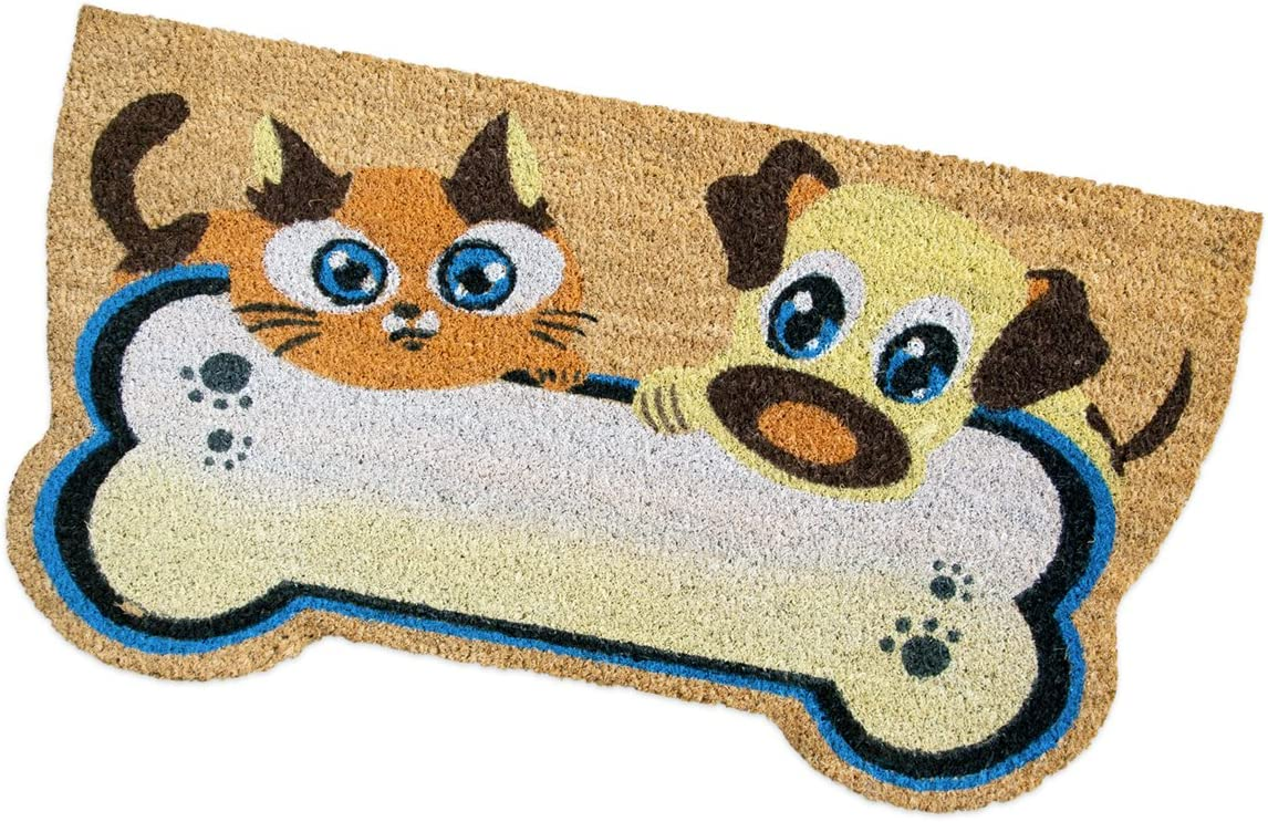 emmevi Paillasson en coco pour chien et chat 40 x 75 cm Tapis dentr/ée grattoir boue arri/ère antid/érapant MOD.Spring chien chat ours