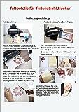 Tattoofolien Transferfolien BodyStyle für Inkjet Tintenstrahldrucker Spezialfolien