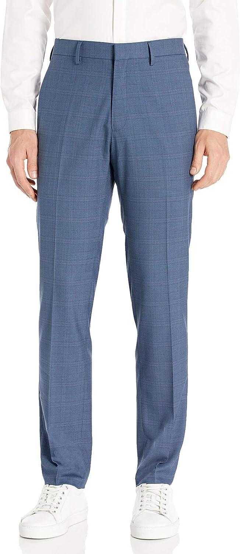 1960s Men's Clothing Kenneth Cole REACTION Mens Stretch Sharkskin Plaid Slim Fit Flat Front Dress Pant $43.73 AT vintagedancer.com