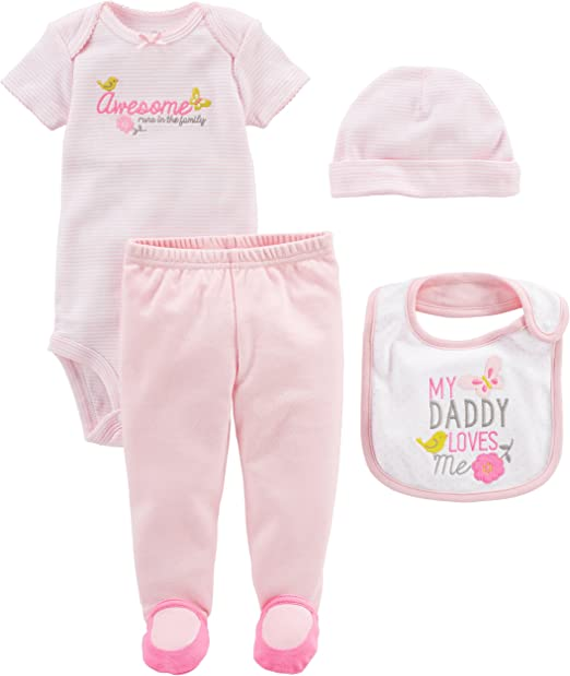 Infant//baby Girl 12 MONTHS CARTER/'S 4pc DADDY/'S SWEETHEART Little Layette Gift!