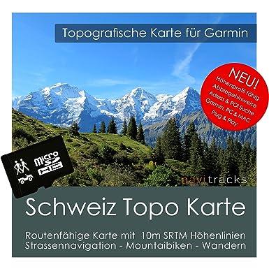 Suiza Garmin tarjeta Topo 4 GB MicroSD. Mapa Topográfico de ...