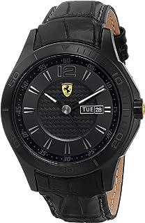 Ferrari Mens 0830093 Scuderia Analog Display Quartz Black Watch