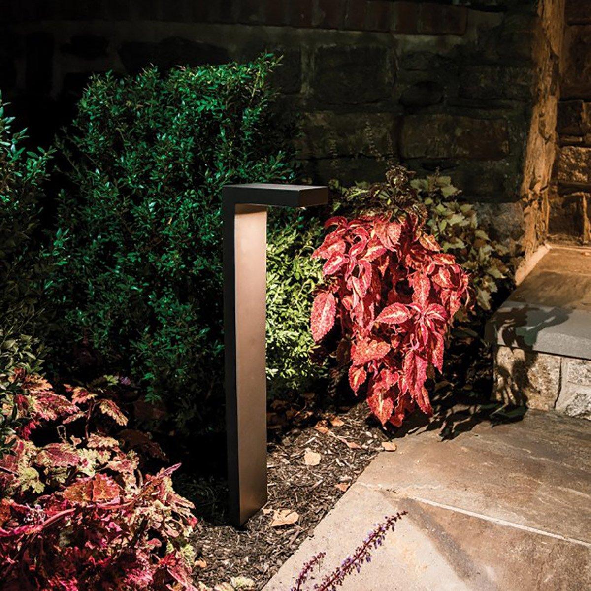 WAC Lighting 6081-27BZ Ledge LED 12V Path Light in Bronze Finish 2700K
