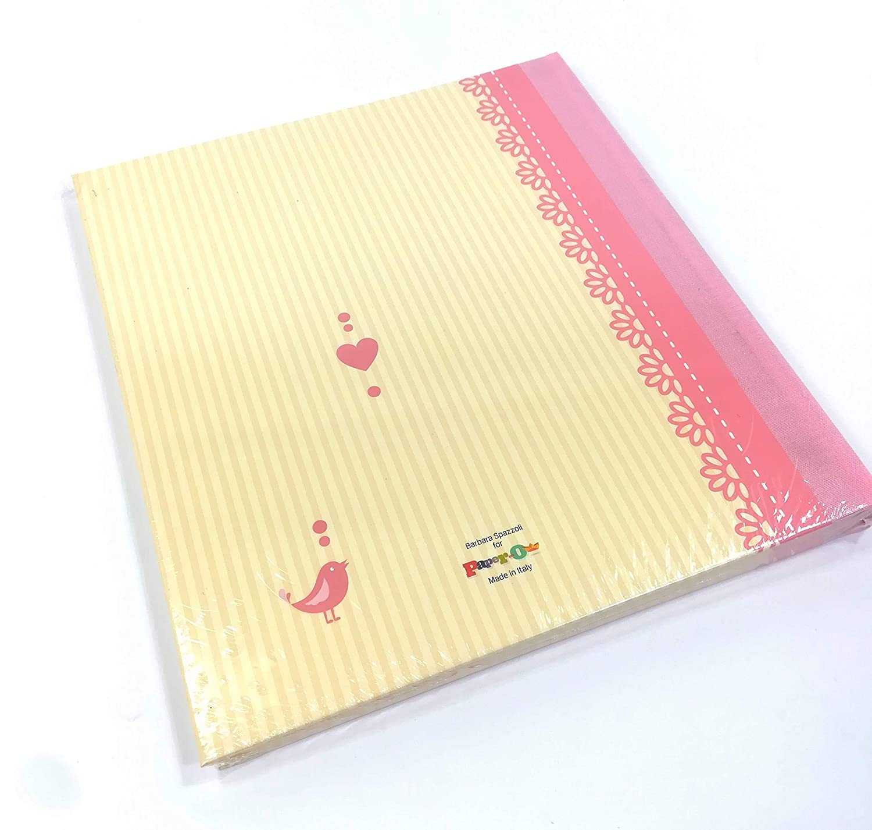 Album foto rosa Paper-o Copertina cartonata in carta patinata opaca con dettagli grafici lucidi 23x25 AF53