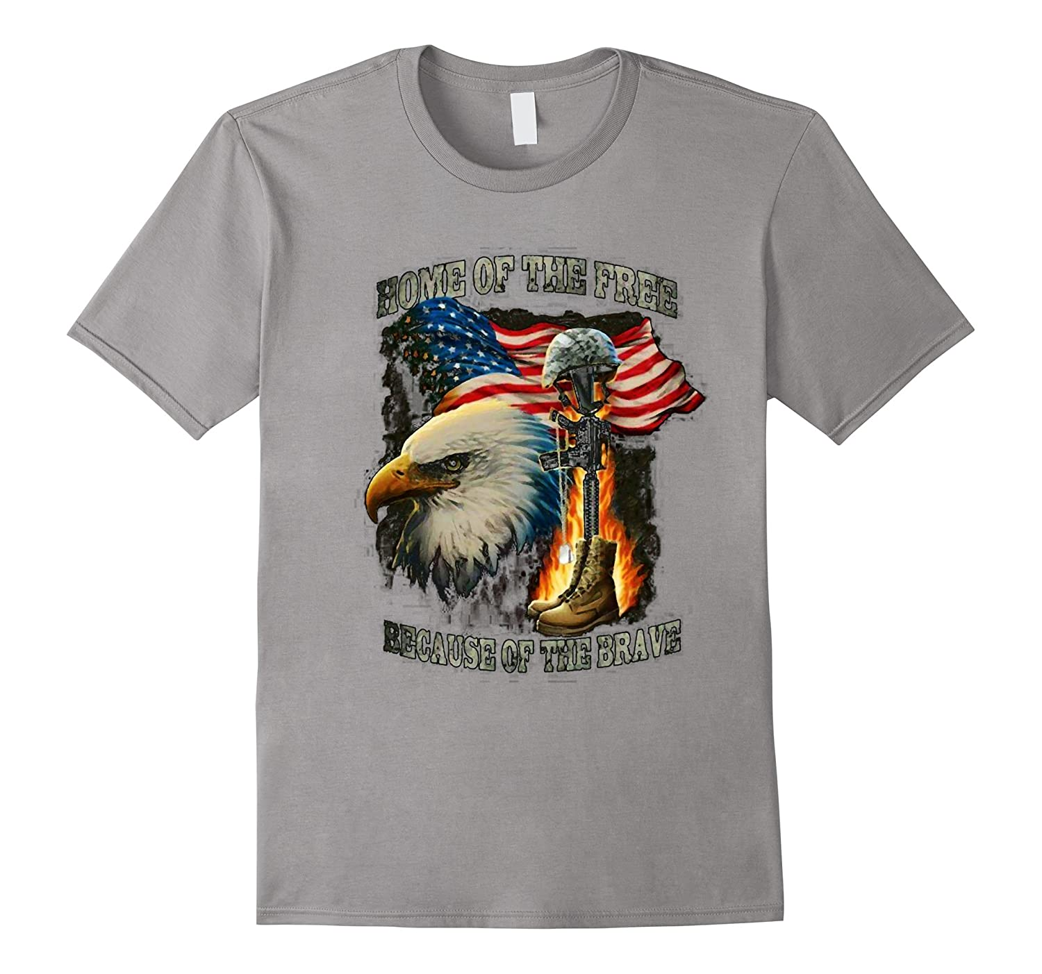 Home Of The Free Because Of The Brave T-Shirt-FL