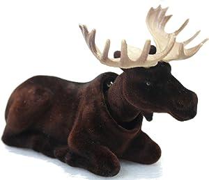 Batty Bargains Mighty Bobblehead Moose with Car Dashboard Adhesive (Dark Brown)