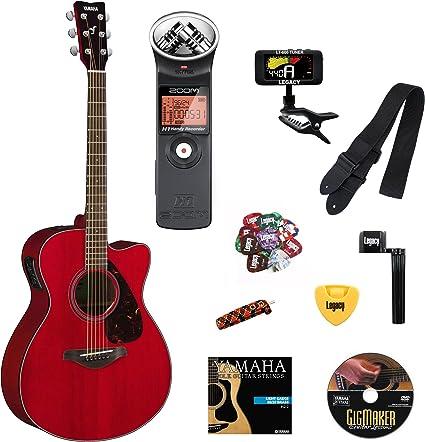 Yamaha fsx800 C pequeño cuerpo Cutaway Guitarra Electroacústica ...