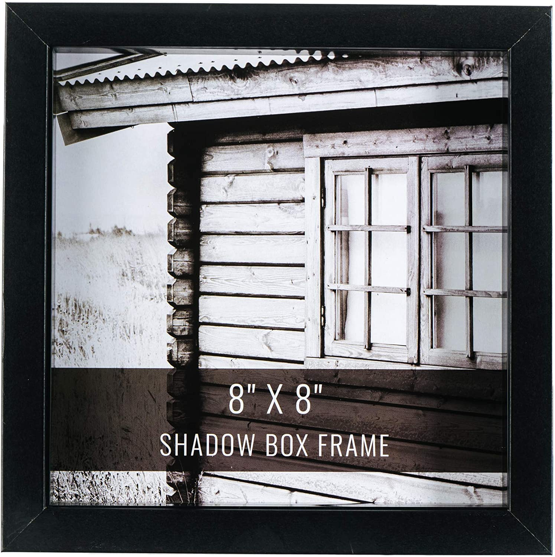 CraftMore Black Shadow Box Frame 8x8 Inch