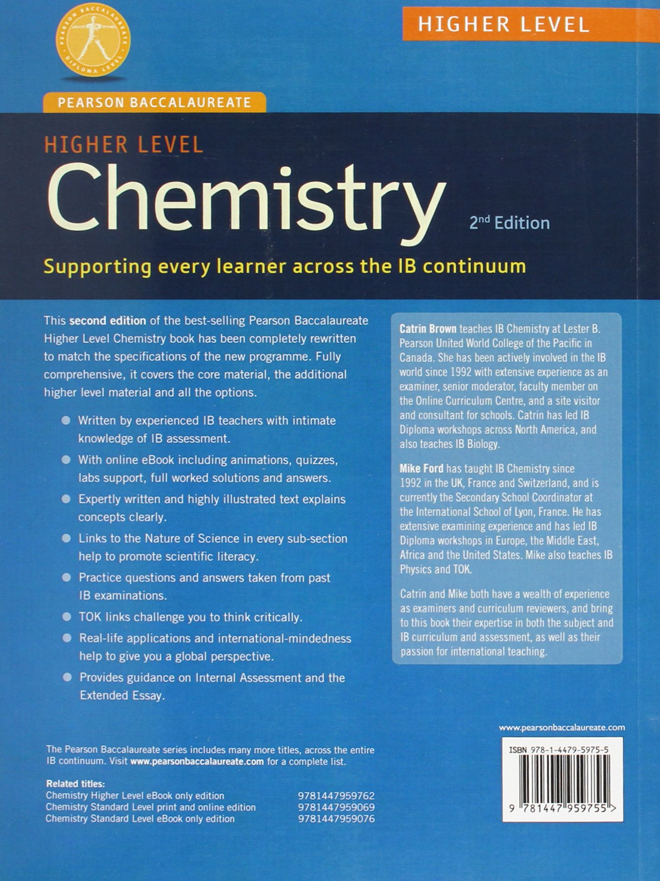 Pearson baccalaureate chemistry higher level 2nd edition print and pearson baccalaureate chemistry higher level 2nd edition print and online edition for the ib diploma pearson international baccalaureate diploma fandeluxe Gallery