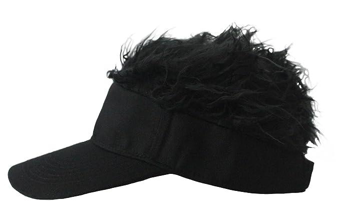 5c301aa0 Amazon.com: Mens Creative Novelty Sun Visor Cap with Fake Hair ...
